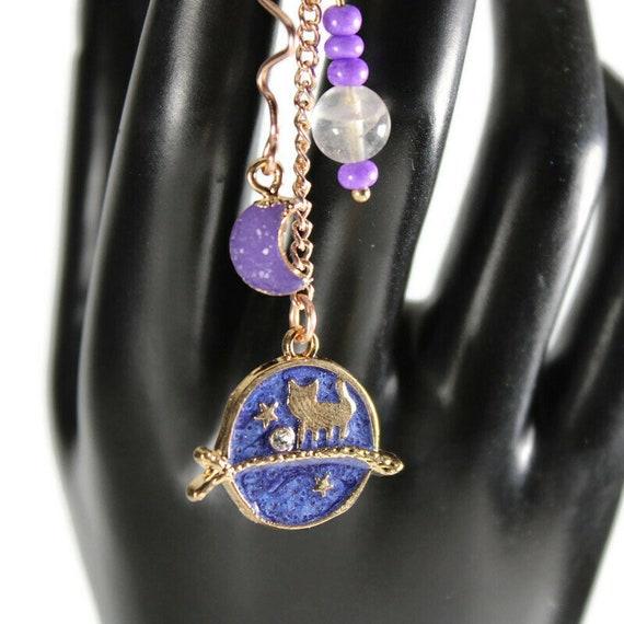 Purple Moon Dread Coil - 7 or 9mm Bead Hole - Metal Dread Bead, Dreadlock Accessories, Dread Coil, Loc Beads, Dread Charm, Dreadlock bead
