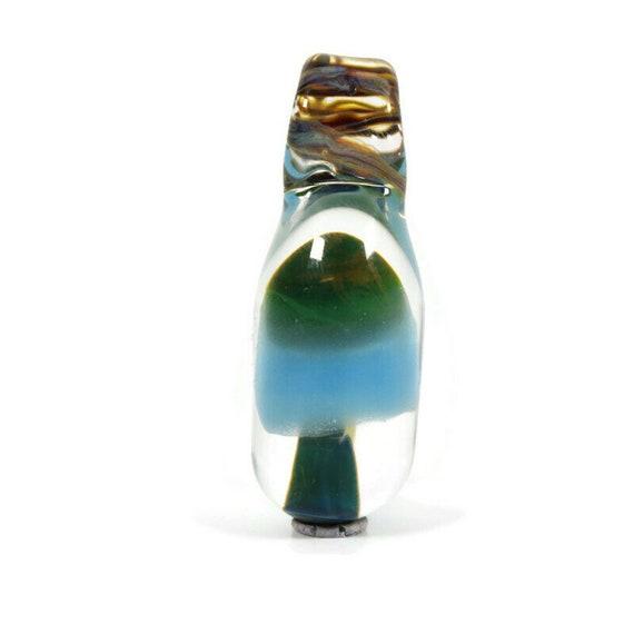 Glass Mushroom Pendant or Mushroom Necklace, Mushroom Jewelry,  Hemp Necklace Option