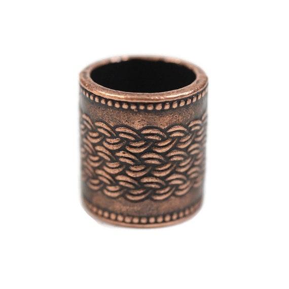 Viking Dreadlock Beads // 10mm Bead Hole - Single Bead // Copper Dread Bead, Viking Dread Bead, Metal Dread Beads, Dread Accessories