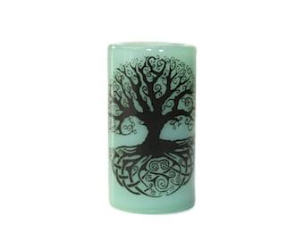Celtic Tree of Life Dread Bead - CUSTOM Color & Hole Size - Glass Dreadlock Bead, Loc Accessories, Dread Jewelry, 5V004 MTO