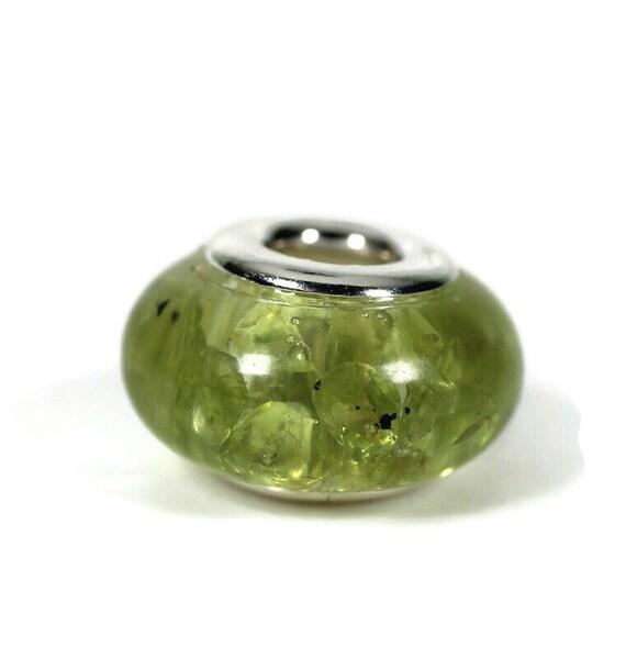 Peridot Resin Dreadlock Beads - 5mm beads hole - Single - Dread Bead, Loc jewelry, Dread Jewelry, Dread Accessories, 4D021