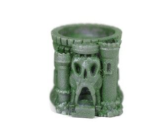 Castle Gray Skull - CUSTOM choose your bead hole size - Dreadlock Bead, Loc Jewelry, Beard Beads, Viking Beads, Dread Accessories, 4D029