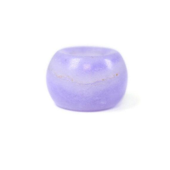 Chalcedony Dreadlock Bead - 7mm bead hole - Dreadlock Beads, Dread Lock Accessories, Hair Beads, Loc Beads, Large Hole Beads, 4D043