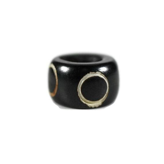 Full Moon Bone Dread Bead // 6 - 12mm Bead Holes // Dreadlock Beads, Dread Jewelry, Dread Accessories, Large Hole Beads, Hair Beads, 4D017