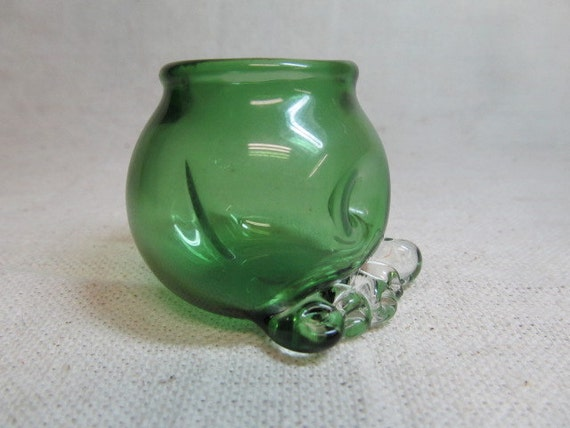 Buddah Belly glass Nug jug with toes and butt crack - Herb jar -