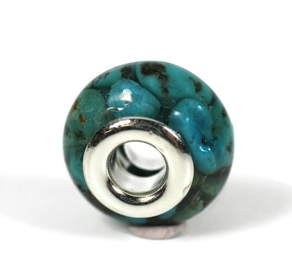 Turquoise Resin Dreadlock Beads - 5mm beads hole - Single - Dread Bead, Loc jewelry, Dread Jewelry, Dread Accessories, 4D044