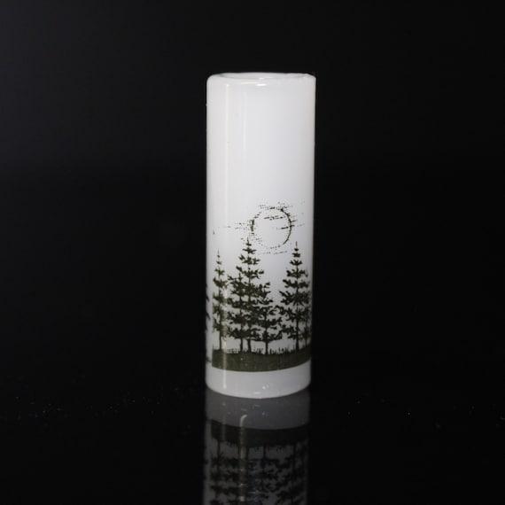 Moonlit Forest Dread Bead - White - 8 mm bead hole - Glass Dreadlock Bead, Lampworked Bead, Loc bead, Loc Accessories, Dread Jewelry