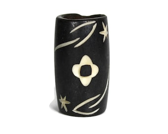 Flower Bone Dread Bead // 10mm Bead Holes // Dreadlock Beads, Dread Jewelry, Dread Accessories, Large Hole Beads, Hair Beads, B03