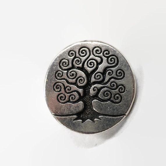 Tree of Life Button - Sacred Tree Button - Hippy clothing - Bohemian Clothing Accents - Sweater and Jacket Buttons