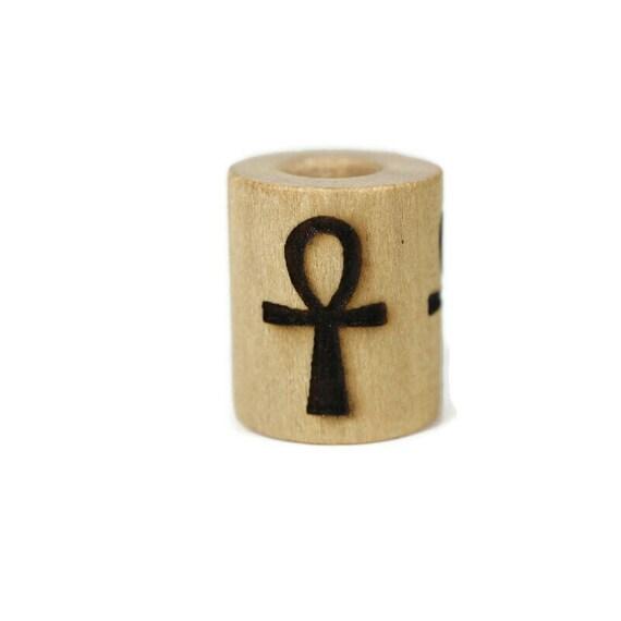 Aunkh Wood Dread Bead // 6 - 8 mm Bead Hole // Dreadlock Bead, Loc Jewelry, Dreadlock Accessories, Dread Jewelry