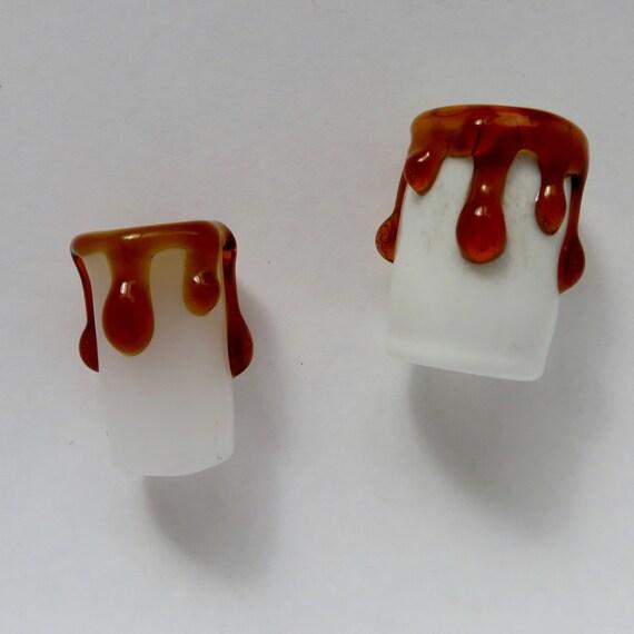 Honey Drip - CUSTOM bead hole options - Glass Dread Beads, dreadlock beads, Large hole beads for dreads or hemp jewelry