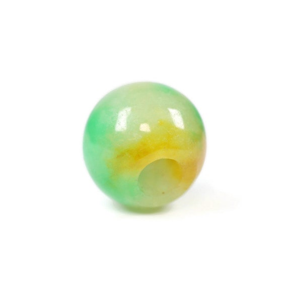 Jade Dread Bead - 4mm beads hole - Dreadlocks, Hair jewelry, Dread Jewelry, Dread Accessories, Loc beads, 4D050