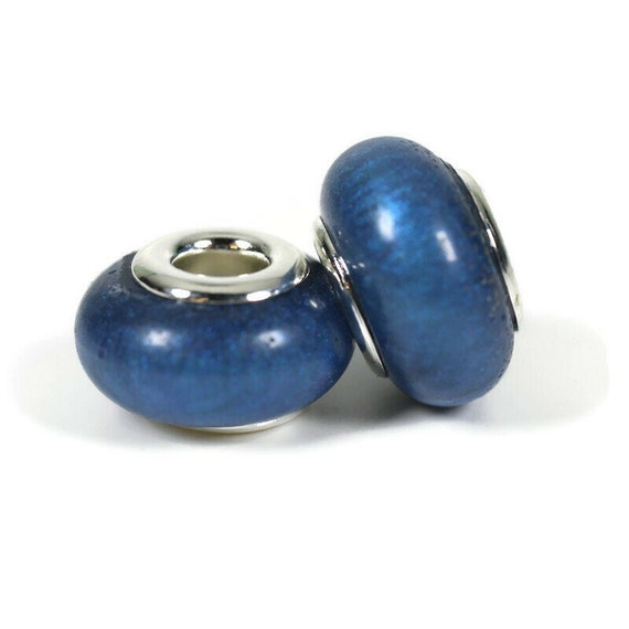 Eggplant Purple Resin Dreadlock Beads - 5mm beads hole - Set of 2 beads - Dread Bead, Loc jewelry, Dread Jewelry, Dread Accessories