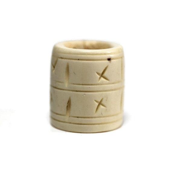 Star Bone Dread Bead // 6 - 12mm Bead Holes // Dreadlock Beads, Dread Jewelry, Dread Accessories, Large Hole Beads, Hair Beads, 4D019