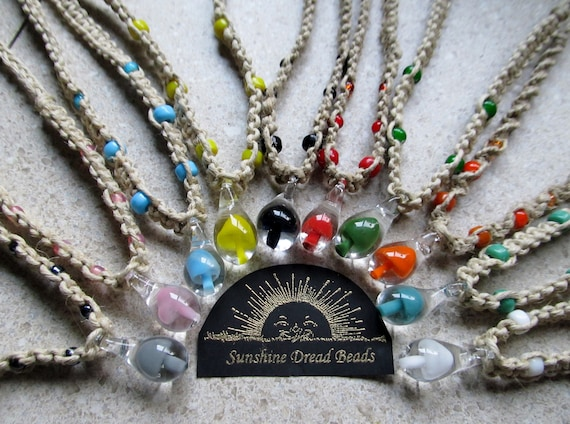 Mushroom Hemp Necklace, CUSTOM, Choose you color & knot style, Hippy Hemp Jewelry, Mushroom Pendant,  glass mushroom pendant hemp necklace