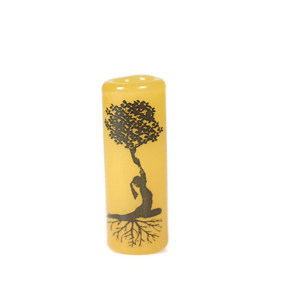 Yoga Pose Glass Dread Bead - CUSTOM Color & Hole Size - Glass Dreadlock Bead, Loc Accessories, Dread Jewelry, 5U001 MTO