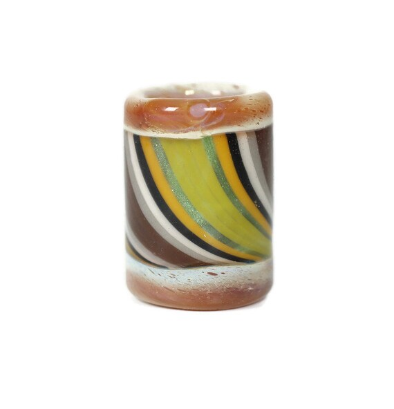 Forest Spirit Dread Bead - 8 mm bead hole - Hand blown glass dread bead, Dreadlock Beads, Heady Dread Lock Beads, dreadlock Accessories