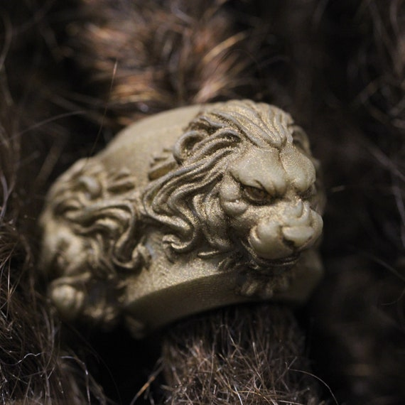 Lion Head Dreadlock Bead / CUSTOM Bead Hole 6-16mm  / Dreadlock Accessories, Loc Bead, Dreadlock Jewelry, Paracord Beads, Loc Jewelry, 4D032