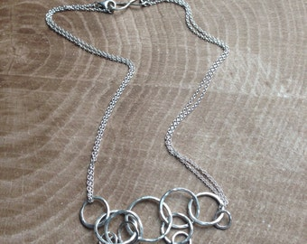 Double/Convertible Sterling Silver Medium Weight Cable Chain, Mama Metal Chain, Double Lobster Clasps for Mama Metal