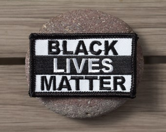 Black Lives Matter Sew//Iron-On Patch BLM Racial Equality Protest I Can/'t Breath
