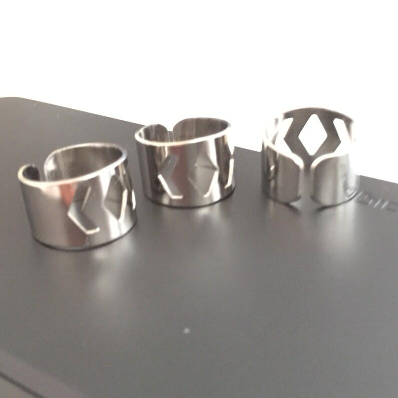 10 pcs 20x13 mm Silver  brass Adjustable Ring Base
