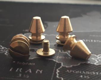 10 pcs 8x13 mm raw brass  screwing ,clasp ,screwing,look,rivets