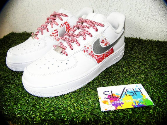 Nike Air Force 1 Custom Slash by rhinestones  4bf0219e6