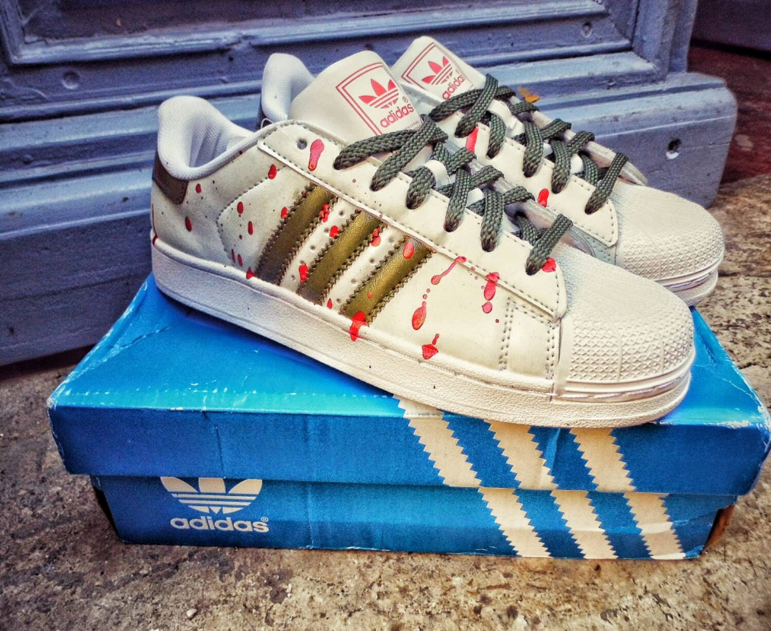 discount code for custom painted adidas superstar 2f11f d788e