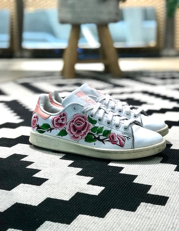 Adidas Stan Smith flower custom