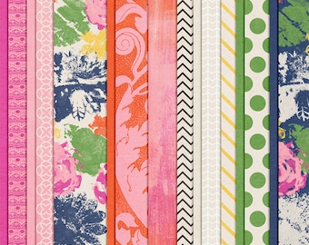 Life As We Know It - Floral Digital Paper Scrapbooking Pack