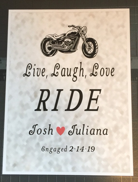 Harley Prints Harley Engagement Gifts Harley Wedding Gifts Etsy