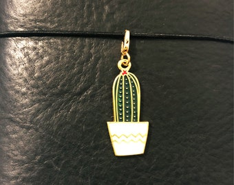Handmade planner dangle with Cactus and Rose charms