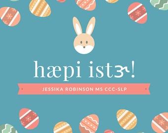 Customizable IPA Easter printable