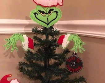 Christmas Grinch Decorations.Christmas Grinch Tree Etsy