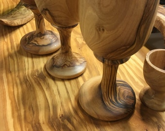 Olive Wood Chalice-wedding gift-christmas gifts-handmade-kitchenwere-prestige-unique- : olive dinnerware - Pezcame.Com