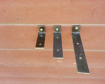 PAIR Engineered Floating Shelf Brackets Steel Handmade in USA Blind Hidden Shelf Bracket