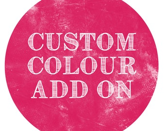 CUSTOM COLOUR Add-On - Paper Crush Stationery Design Custom Colour Addition
