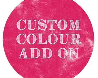 CUSTOM COLOUR Add-On - Paper Crush Stationery Design Custom Colour Addition