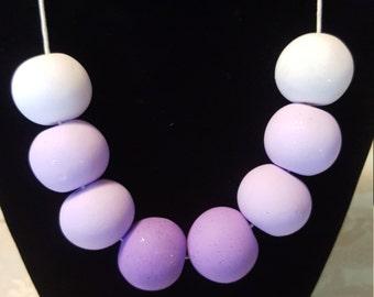 Pastel Ombre Clay Necklace