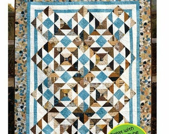 """Big Star Little Star A Strip Club Pattern for 2 1//2/"""" Strips by Cozy Quilts"""