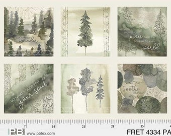 Forest Retreat Collection- Panel- 100% Cotton Quilting Fabric, Per Panel