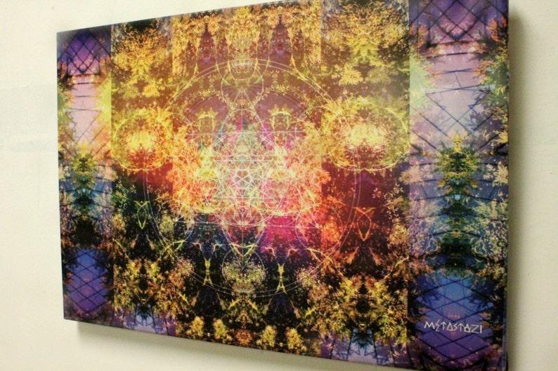 688b8db8a924a Pineal Metatron CANVAS Print Visionary Art FRACTALIC by