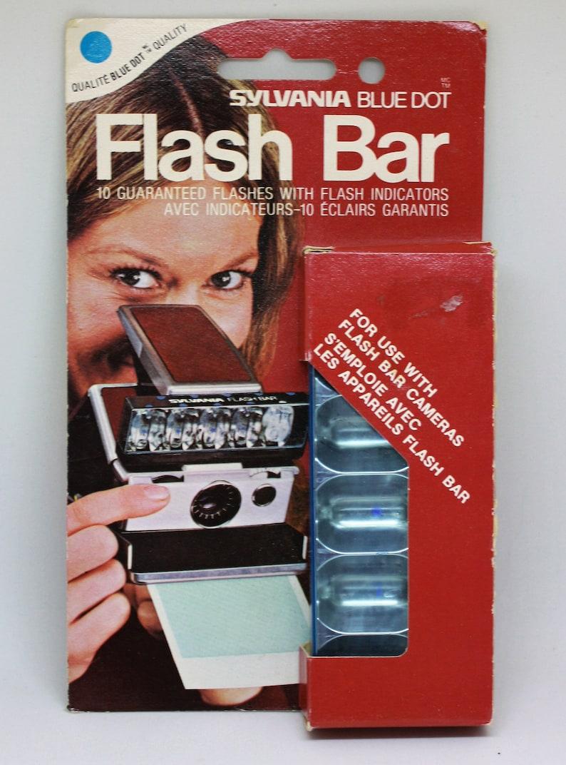 1970s Sylvania Blue Dot Flash Bar
