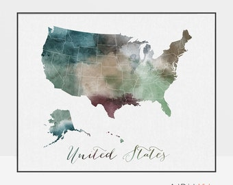 Map Of The United States States.United States Map Etsy