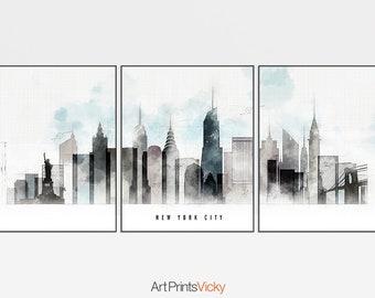53fe2b3dd8b Set of 3 prints New York