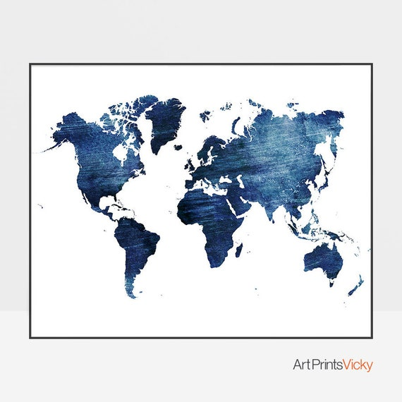 Large World Map Travel Map World Map Poster World Map Wall Etsy