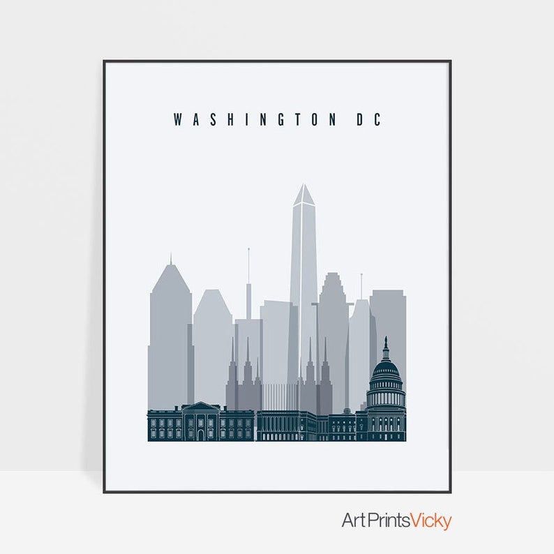"Indianapolis Indiana City Skyline Art Travel Poster Original Design 12x16/"" B22"