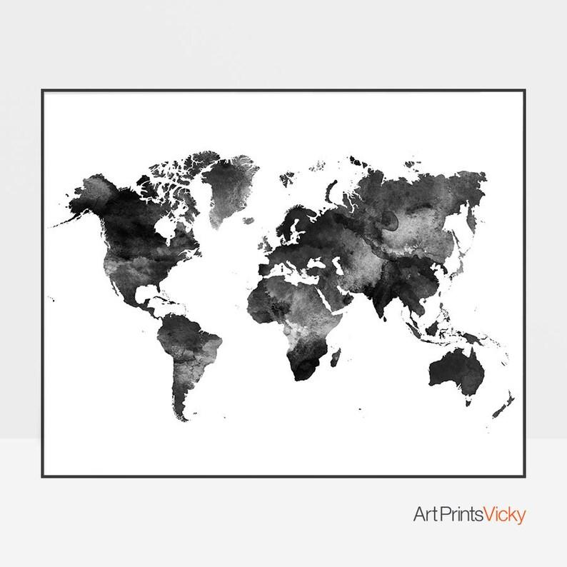 wereld kaart poster wereldkunst kaart grote wereldkaart | etsy