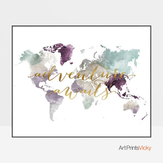 The World Map Wall Art travel product recommended by Vicky Tsepa on Lifney.