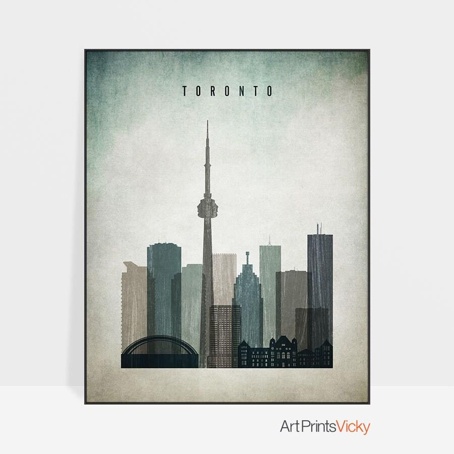 Toronto-Wand-Kunst Toronto print Plakat Toronto Skyline